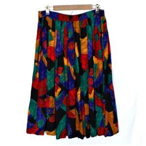 Vtg Maren Women Colorful Abstract Printed Skirt
